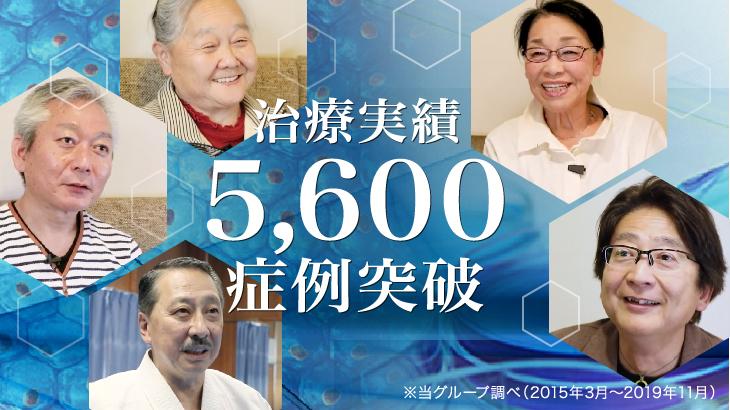 ひざ関節の治療5600症例突破報告